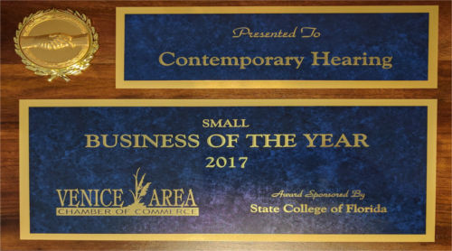 Venice Chamber of Commerce 2017 Small Business of the Year: Contemporary Hearing